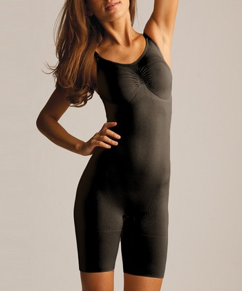 Black Full Shaper Bodysuit - Women