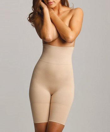 Nude High-Waist Thigh Shaper Shorts - Women & Plus