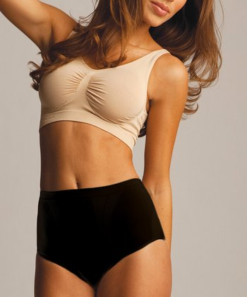 Black High-Cut Shaper Briefs - Women