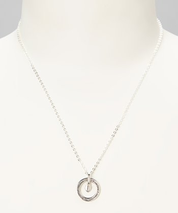 Sterling Silver 'A Circle is Round' Friends Pendant Necklace
