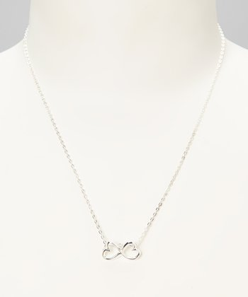 Sterling Silver Infinity Heart Daughter Pendant Necklace