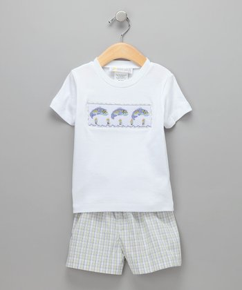 White Sinker Tee & Shorts  - Infant, Toddler & Girls