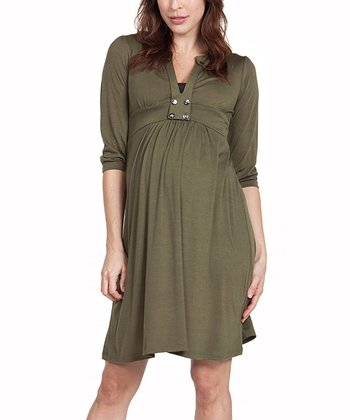 Olive Emory Maternity Dress
