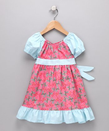 Pink Butterfly Pattycake Dress - Toddler & Girls