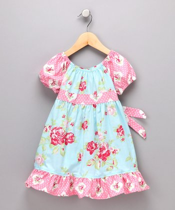 Blue Rose Pattycake Dress