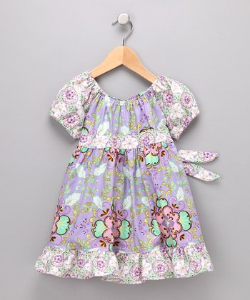 Lavender Floral Pattycake Dress - Girls