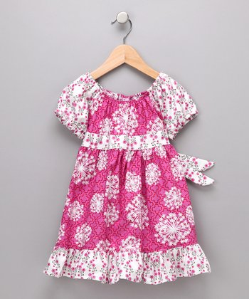 Fuchsia Wild Flower Pattycake Dress - Toddler & Girls
