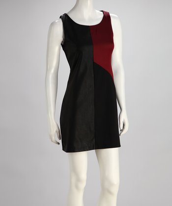 Black Two-Tone Sleeveless Dress