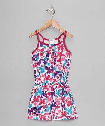 Raspberry Butterfly Romper - Toddler & Girls