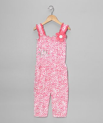 Pink Zebra Jumpsuit - Toddler & Girls