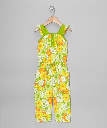 Lime Floral Jumpsuit - Toddler & Girls