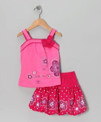 Raspberry 'Princess' Tank & Skirt - Toddler & Girls