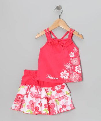 Coral Flower Tank & Skirt - Infant, Toddler & Girls