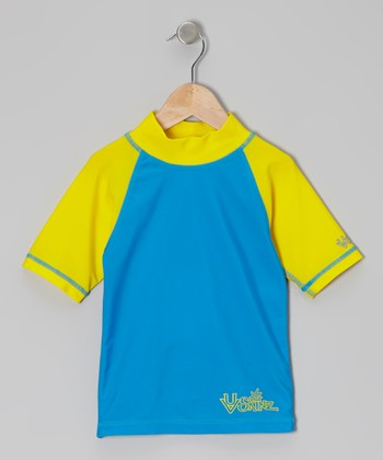 Blue & Yellow Rashguard - Infant, Toddler & Boys