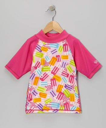 Hot Pink Popsicle Rashguard - Toddler & Girls