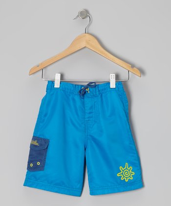 Blue & Yellow Boardshorts - Toddler & Boys