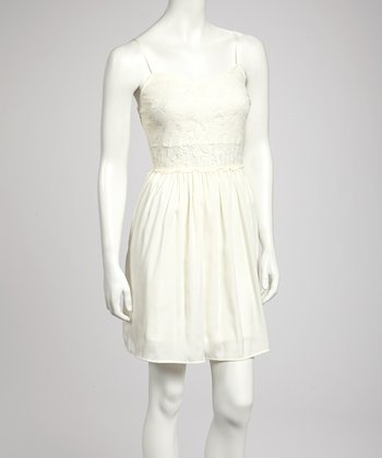 Ivory Lace Sleeveless Dress - Women
