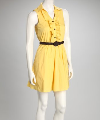 Sunshine Belted Sleeveless Dress