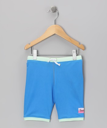 Blue Swim Shorts - Toddler & Girls