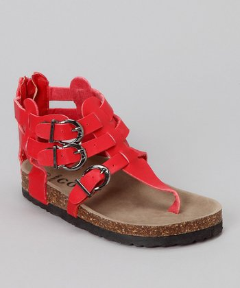 Red Zoe Gladiator Sandal