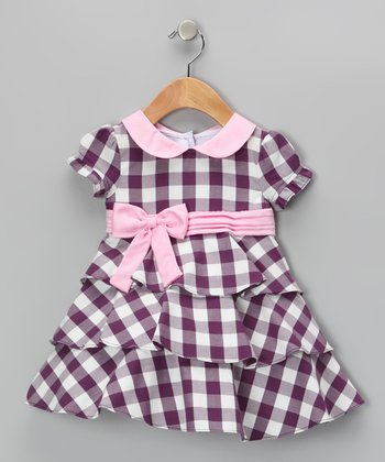 Purple & White Bella Dress - Infant & Girls
