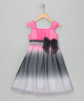 Pink Ombré Elise Dress - Girls