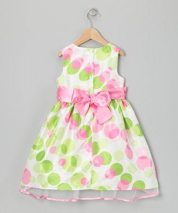 Pink & Green Felicity Dress - Girls