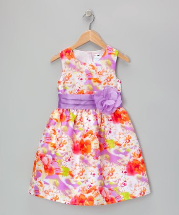 Purple & Orange Lilith Dress - Toddler & Girls