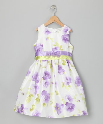 Lilac Floral Dress - Toddler & Girls
