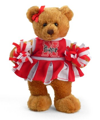 Nebraska Cheerleader Bear Plush Toy