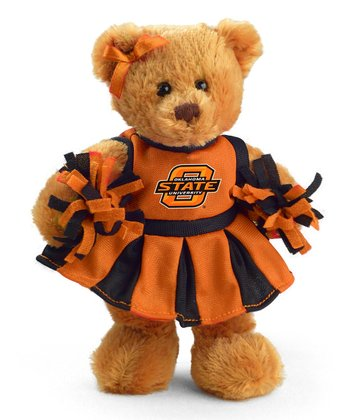 Oklahoma State Cheerleader Bear Plush Toy