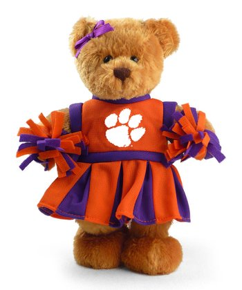 Clemson Cheerleader Bear Plush Toy