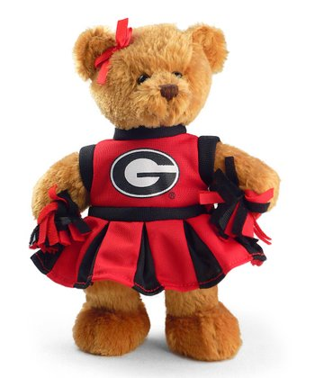 Georgia Cheerleader Bear Plush Toy