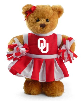 Oklahoma Cheerleader Bear Plush Toy