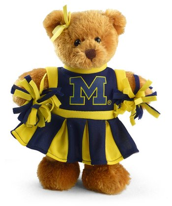 Michigan Cheerleader Bear Plush Toy