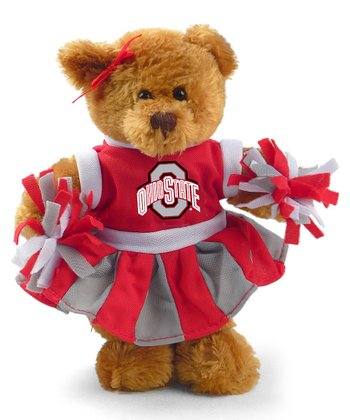 Ohio State Cheerleader Bear Plush Toy