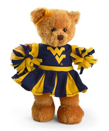 West Virginia Cheerleader Bear Plush Toy