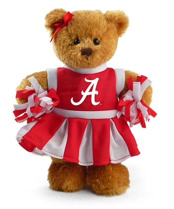 Alabama Cheerleader Bear Plush Toy