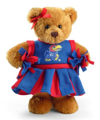 Kansas Cheerleader Bear Plush Toy