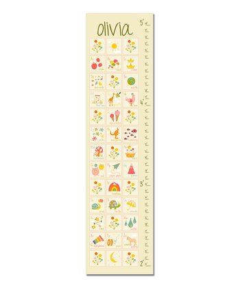 Cream ABC Personalized Growth Chart