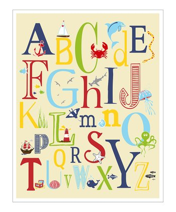 Cream Nautical ABC Giclée Print