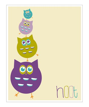 Purple 'Hoot' Giclée Print