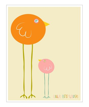 Pink 'Little and Large' Giclée Print