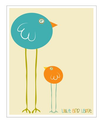 Blue 'Little and Large' Giclée Print