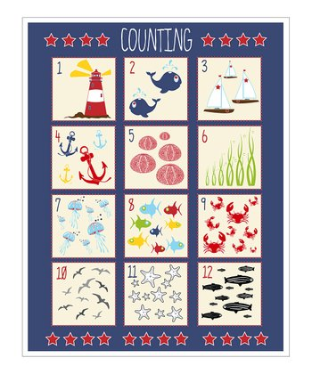 Navy Counting Chart Nautical Giclée Print