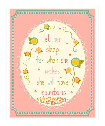 Pink Oval 'Let Her Sleep' Giclée Print