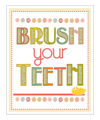 'Brush Your Teeth' Giclée Print