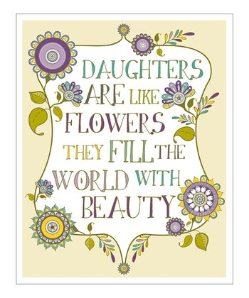 Purple 'Daughters Are Like Flowers' Giclée Print