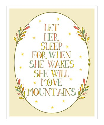 Cream Oval 'Let Her Sleep' Giclée Print