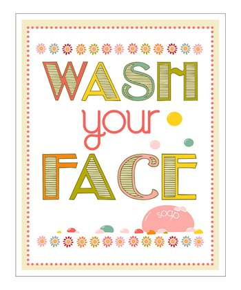 'Wash Your Face' Giclée Print